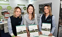 Pictured from left: Dr Elizabeth Earle (AgriSearch), Dr Debbie McConnell (AFBI) and Denise Aiken (AgriSearch) with the first copies of the Best Practice Guide at the recent Royal Ulster Winter Fair