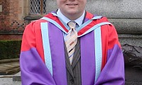 Alastair Boyle at his recent graduation from Queens University as a PhD