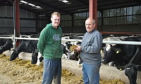 Host farmers Adrian and Aaron Houston from Plumbridge, County Tyrone