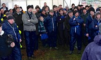 Farmers attending the farm walk at Joe & Seamus Maginn's