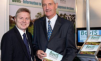 James Campbell, Chairman, AgriSearch, and Noel Lavery, Permanent Secretary, Department of Agriculture and Rural Development, view the new BovIS User Guide
