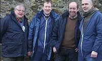 Key players at the AgriSearch sheep event near Dungiven included, from left, AFBI vet Jason Barley, senior sheep advisor Neville Graham from Greenmount College, host farmer Ian Buchanan and Dr Alistair Carson, head of AFBI, Hillsborough.